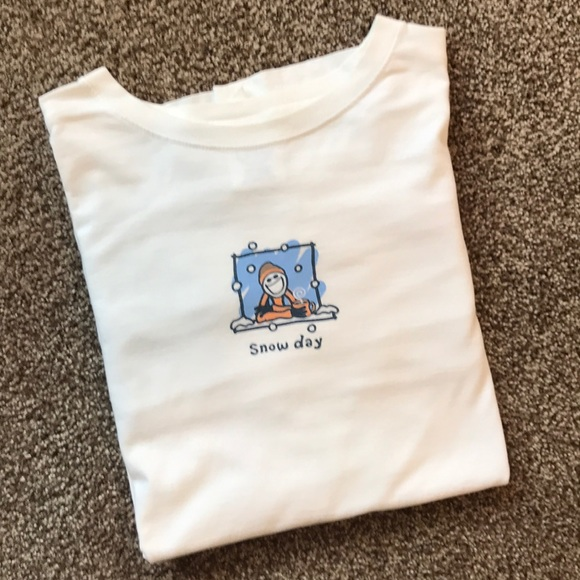 Life Is Good Tops - SNOW DAY! Tee